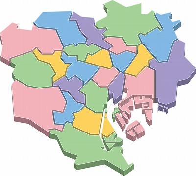 東京23区の地図