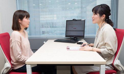 パーソルテンプスタッフの登録会における、コーディネーターとの面談の様子