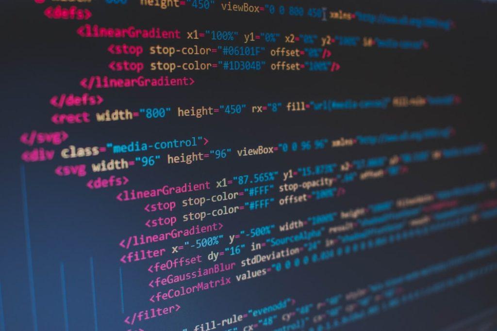 プログラミングコードのイメージ